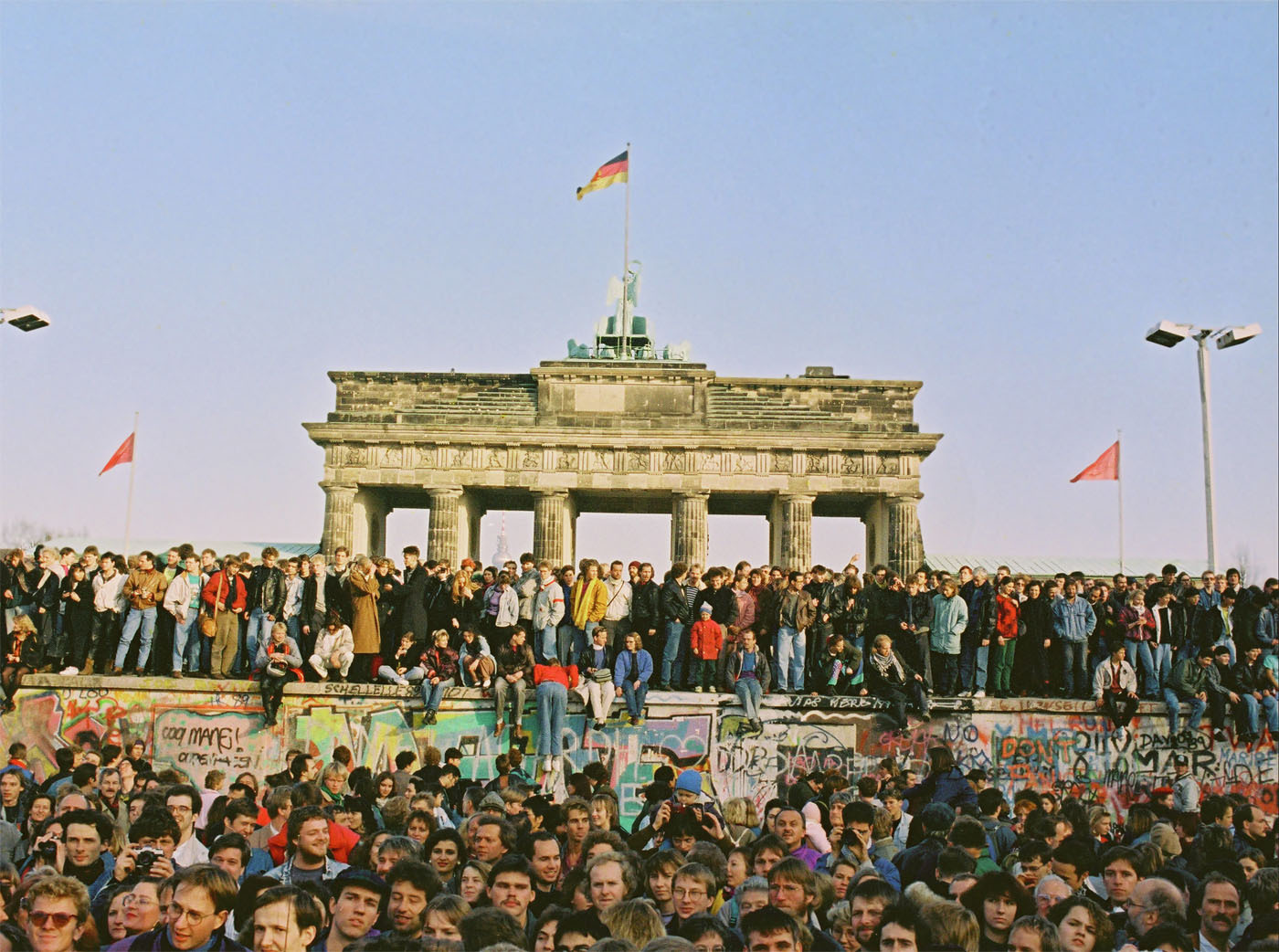 Twenty years ago, on November 9, 1989, jubilant crowds celebrated the opening of border crossings along the Berlin Wall. To find out more about the Berlin Wall, please visit www.Germany.info/withoutwalls. Copyright: Press and Information Office of the Federal Government of Germany. (PRNewsFoto/German Embassy Washington, DC)